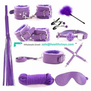 PU Smooth surface Sexy Product Bondage Kit 10 Pcs Set Adult Games Toys Couples Erotic Toys
