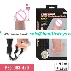 Penis extension sleeve with strap-on for men