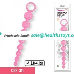 Pure silicone Anal probe sex toy