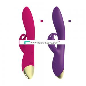 Rabbit Vibrator  Waterproof Rechargeable Vibrator Adult Sex Toy for Women or Couples