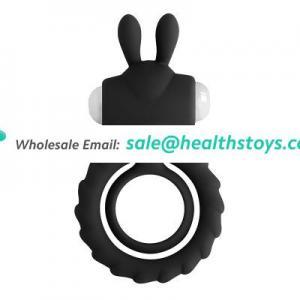 Rabbit vibrating cock ring for rmen