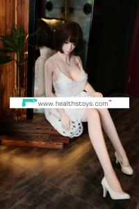 Real Silicone Solid Sex Dolls With Skeleton Japanese Artificial Pussy Large Breast Oral Sex Doll