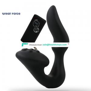 Remote control dual motor powerful silicone vibrator usb rechargeable sex toys for men latex
