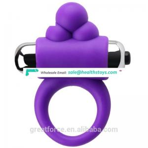 Sex toy silicone vibrating pleasure cock ring g-max vibrating ring
