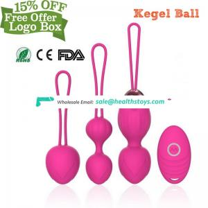 Silicone Kegel Exercise Ben Wa Wireless Remote Massage Ball 10 Kinds of Vibration Modes for Women Pleasure Pelvic Floor Exercise