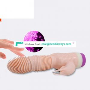 Silicone Real Feeling Adult Love Toy Super Long 3 Points Dildo Thin Dragon Vibrator