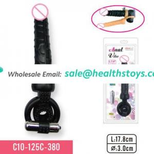 Solid dong with cock ring and mini bullet Adult toys for men