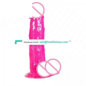 Suction cup Crystal Dildos Huge Realistic rubber penis for Women Great Sex Products