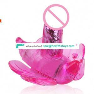 U-Shape C-Shape USB Rechargeable 100% Waterproof Remote Vibrating Wearable Butterfly Vibrator Dildo