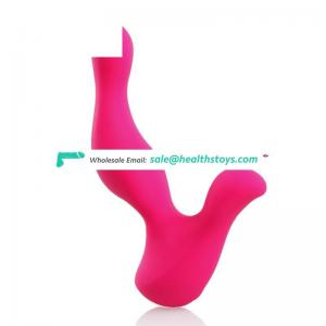 USB rechargeable multifunctional 100% silicone penis anal vaginal vibrator for men and women