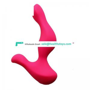 USB rechargeable silicone sex anal dildo for women