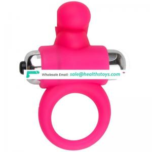 Water proof vibrating penis silicone cock ring for sale