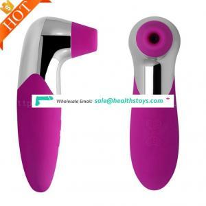 Wholesale Electric Adult Tongue Clit Nipple Pussy Vagina Vibrator Women Breast Nipple Bra Sucking Machine