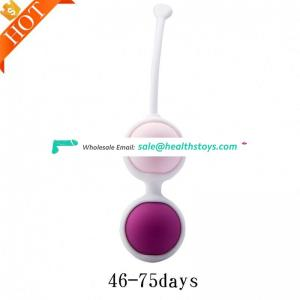 Wholesale High Quality Sex Toy Smart Exercise ,Silicone Vaginal Balls Double-Shock Kegel Eggs Love Ball