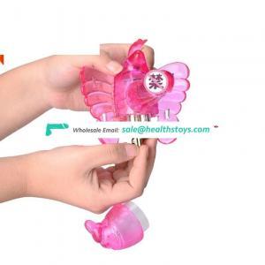 Wholesale Price Strap on Penis Sex Toys Wearable Butterfly Vibrating Vibrator Dildo