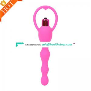 Wholesale Vibrating And Prostate Massager Hot Selling Vibrating Silicone Butt Wand Anal Plug