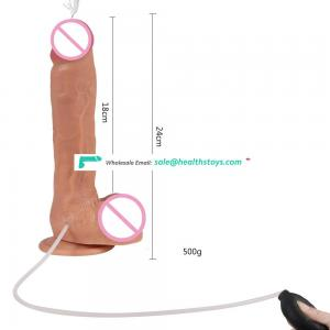 Xise lifelike classic realistic squirting dildo 9.45 inch king cock artificial squirting dildo with balls for women masturbation