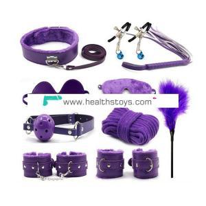 high quality  10pcs/set  BDSM   Fetish Kit  Bondage slave restraint  sex toy