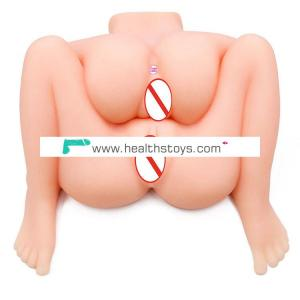 hot selling two pussy and two anus sex doll  silicone sexy  pussy  toy for man