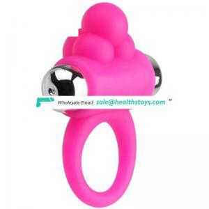 silicone cock ring vibrator for men