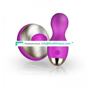 10 Speed  Remote Control Powerful USB Rechargeable Egg Shaped mini bullet vibrator