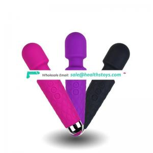 20 Frequency USB Chargeable AV Massage Vibrator Toys Sex Adult