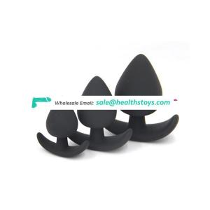 3 Size Black Anal Sex Toys Silicone Butt Plug