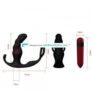 3 in 1 multi-function prostate massager finger sleeve sex toys
