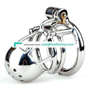 316L Stainless Steel Men PA Lock Male Chastity Device Penis Cage