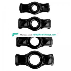 4pcs/set super stretchy strong male donut cock rings for men, male sex toy big cock man penis rings