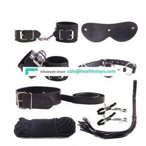 8 PCS PU Leather three colors OEM cotton rope male leather bondage set