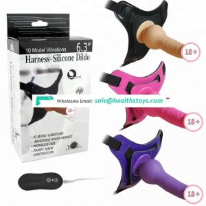 Adjustable Strap On Vibrating Silicone Sex Toys For Woman