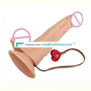 Adult Women Rubber Dildo Vibrator heating Plastic Penis Sex Toy