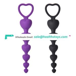 Amazon Hot Selling Butt Plug Anal Beads with Safe Pull Ring