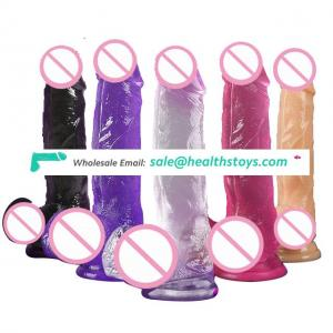 Amazon Hot sex toy Selling Real Skin Feeling TPE Big Dildo for Women Penis