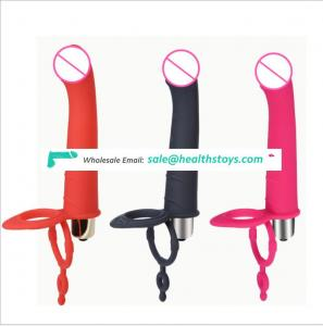 Amazon Silicone Anal Butt ABS Bullet Massage Stimulator Strap on dildo with adult sex toy butt plug