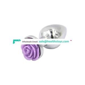 Anal Sex Toys Flower Shape Stainless Metal Butt Plugs for Women