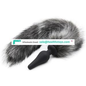 Artificial Fox Long Tail Soft Silicone Anal Toys Butt Plug