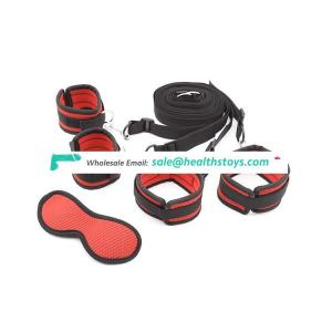 Bdsm Bed Restraints Bondage Kit with Handcuffs and Ankle cuffs