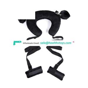 Bedroom Bondage Restraints Sex Toys Pillow with Handcuffs and ankle cuffs