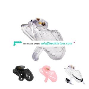 Breathable Air Hole Design Medical PC Material Male Chastity Cage Penis Lock