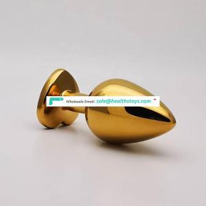 Butt plug golden  anal plug for men women gay