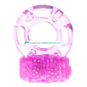 Butterfly Silicon Vibrating Cock Rings Adult vibrator for men penis