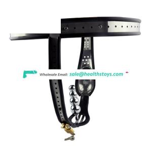 Chastity belt for men cock cage butt plug beads male chastity device