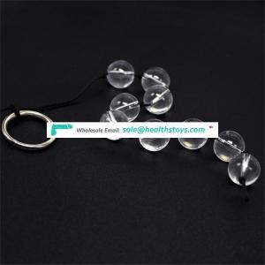 Cheap price mini size glass anal plug bead