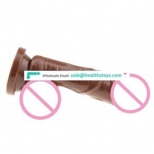 Cheaper Natural Skin Big medical silicone artificial penis realistic dildo for women