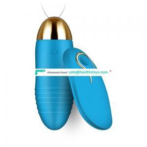 Cute silicone wireless remote control anal plug vibrator massage sex women vibrating egg