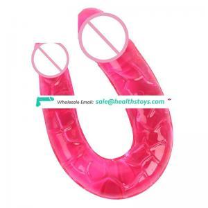 Double Headed Super Soft Long Thin Dildo for Female