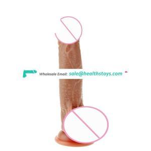 Double Layer Liquid Silicone Rotating Dildo Vibrator Female Masturbation Toys