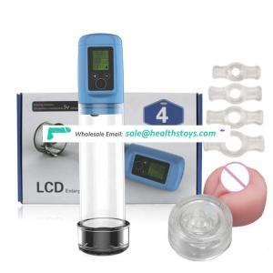 Electric LCD display Penis Enlarger Male Enhancer USB Charge,Automatic Penis Vacuum Penis Pump Enlarger